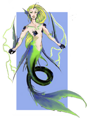 Electric Mermaid by Nenril-Tf
