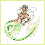 Atargatis, the mermaid Goddess - SUGGESTED by Nenril-Tf