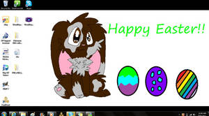 My easter background