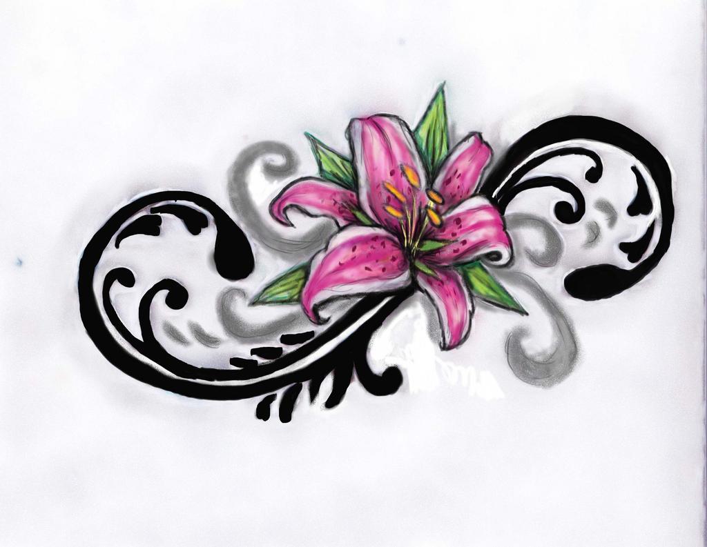 Stargazer Lily Flower Tattoo Designs: Beautiful Lily Flower Tattoos Design