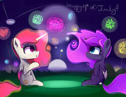 Happy 4th w/ Tia and Moonbutt! by A8F12Official