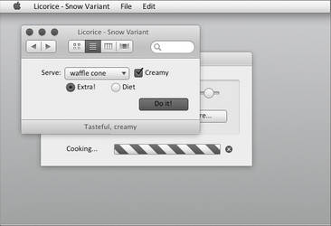 Licorice - Snow Variant For OS X Lion/ML