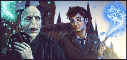 Voldemort vs The Doctor by ZachSmithson