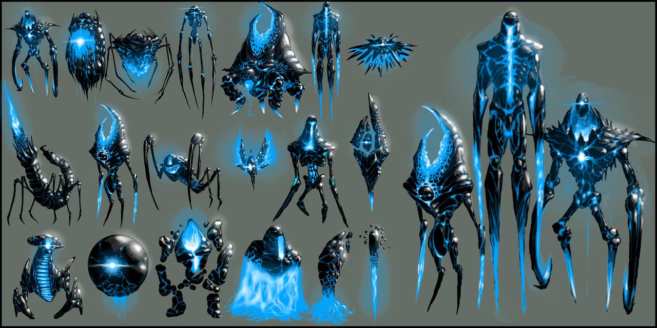 Evil Alien Concepts by ZachSmithson