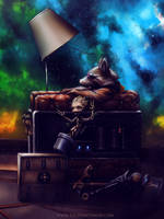 Rocket and Groot: Blown Away close up by ZachSmithson