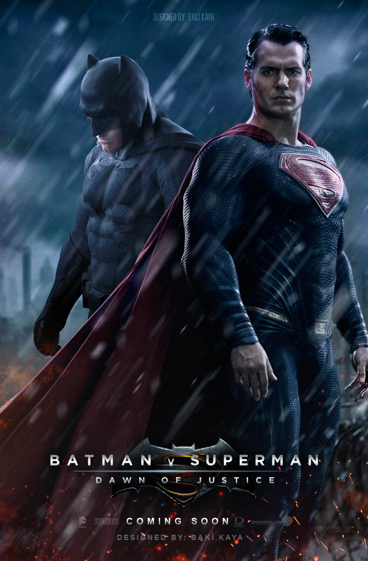 Batman V Superman Dawn Of Justice Poster 2 By Krallbaki