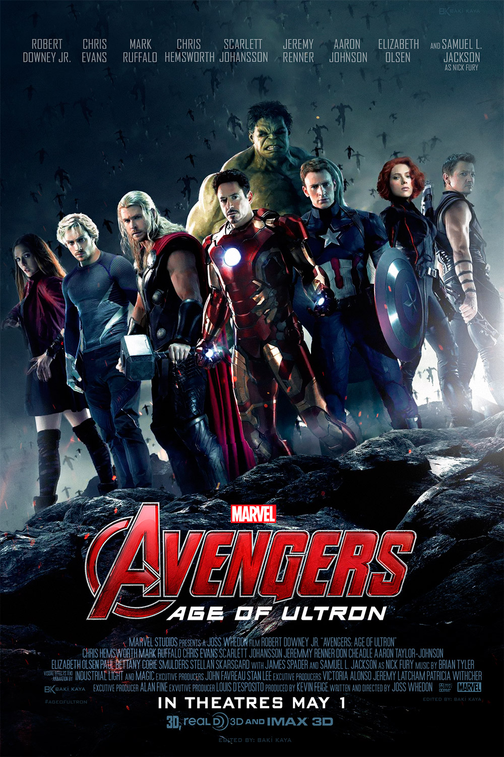 Avengers Age Of Ultron By Iloegbunam On Deviantart: Avengers: Age Of Ultron Poster (FM) By Krallbaki On DeviantArt