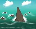 Seastacks by AmehanaRainStarDrago
