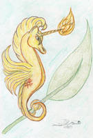 Solar Flare Seahorse by AmehanaRainStarDrago