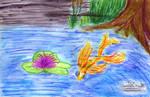 Lily Fish Pond Waterbrush - marked