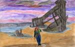 Mermay 2020 #18: Shipwreck (Color version)