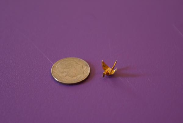 Mini Origami Crane by OrigamiDragon2 on DeviantArt - photo#10