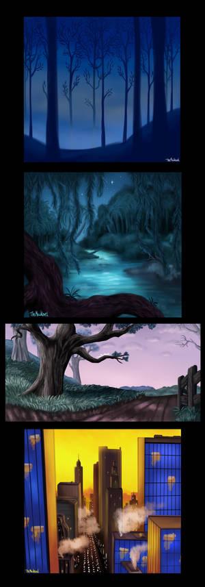 Disney backgrounds - PRACTICE