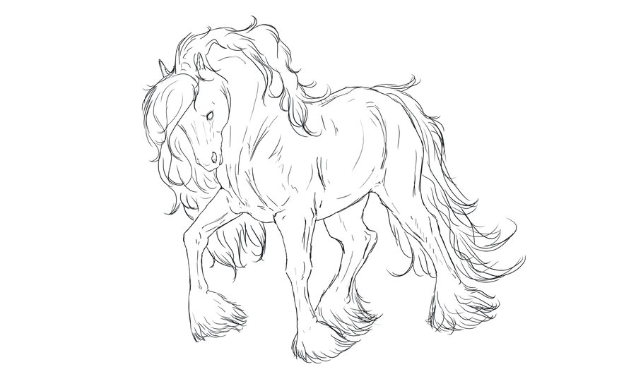 Line Art In Gimp : Horse line art by apachecove on deviantart