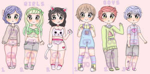 [30 points] Cute Girls n' Boys Adoptables by Chibie801