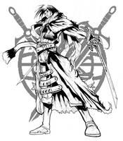 character pin-up by haribon