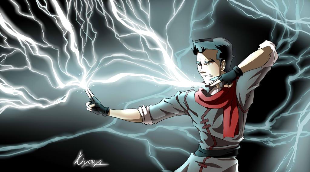 Firing lightning by Kiyouya