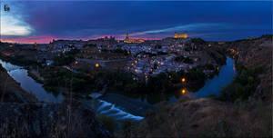 Panoramica Toledo cielos rojos by legolassx