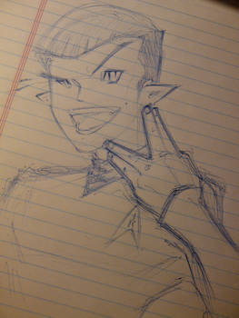 Spock/Starships are meant to fly sketch