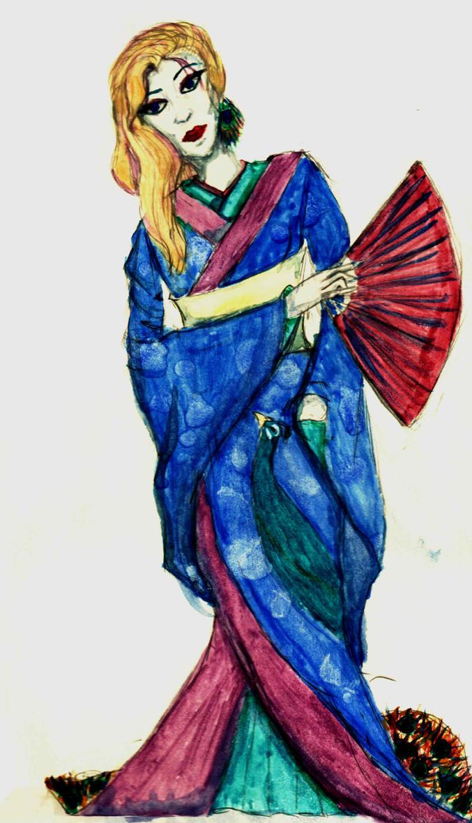 Peacock Geisha by Melesifant