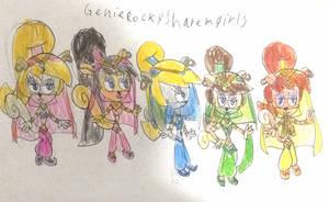Genie Rocky's Harem Girls by Mead1992