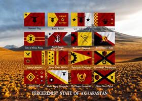 Flags of Akharastan / Banderas de Akharastan