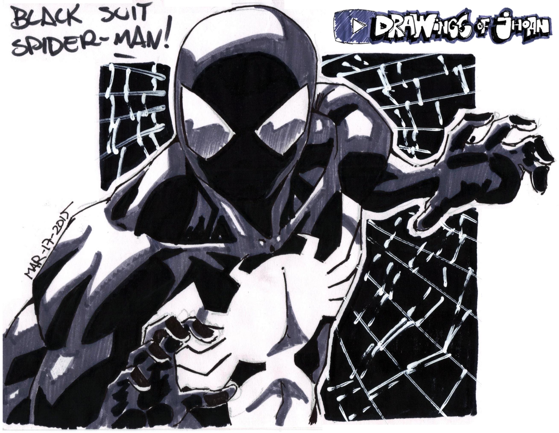 48 - Black Suit Spider-Man sketch! by DrawingsOfJhoan on ...