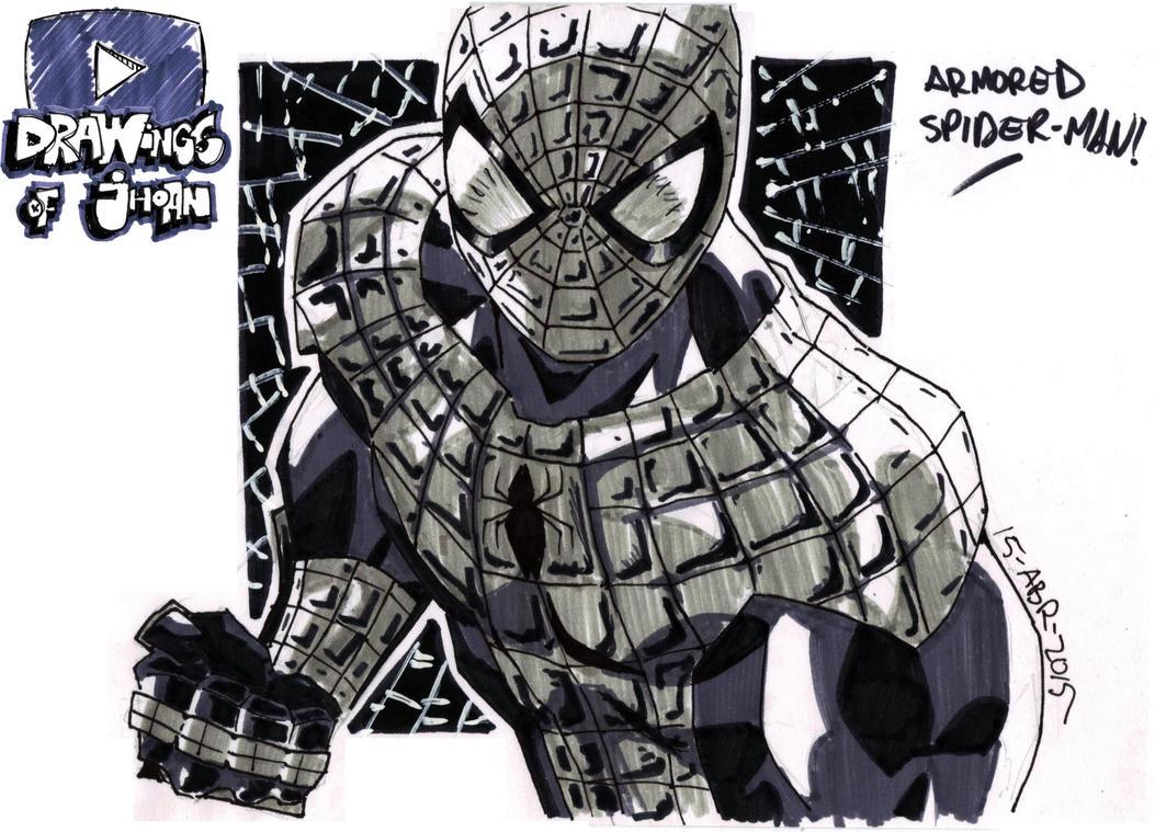 60 - Armored Spiderman Sketch by DrawingsOfJhoan