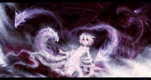 Anime Girl and Shadow Dragon