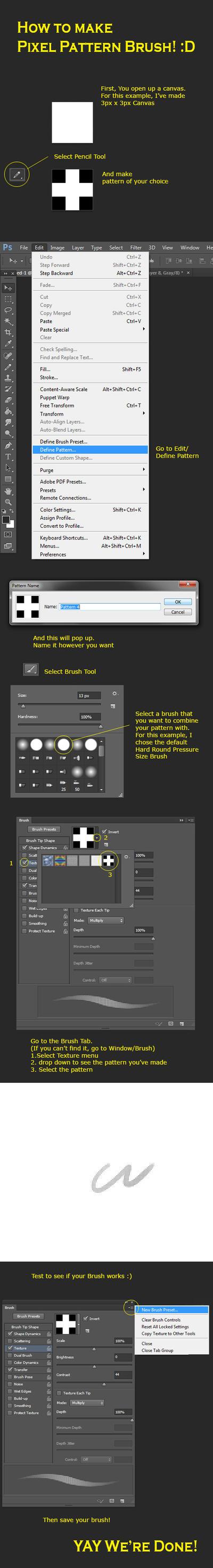 How to make Pixel Pattern Brush by kingzu