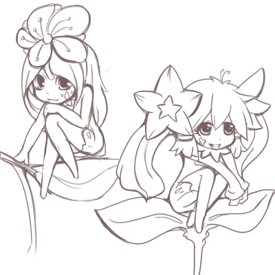 Drawings of Fairies An...