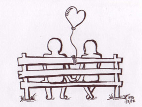 A Bench for Two by Shirory