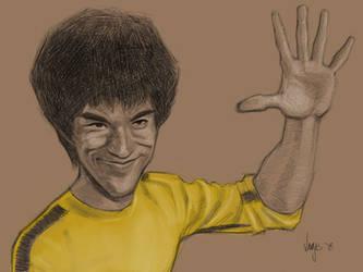 Caricature Study: Bruce Lee by Varjus