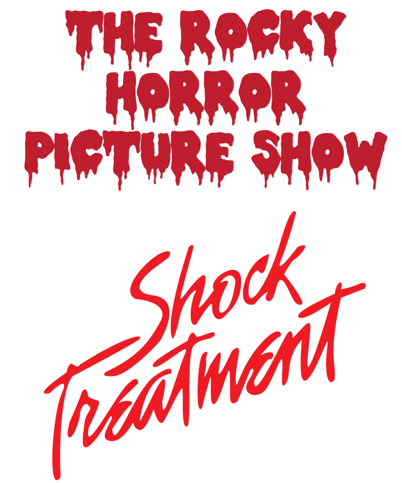 rocky horror picture show  shock treatment logos by
