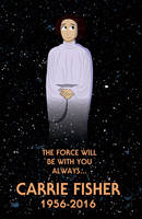 Carrie Fisher RIP by Jarvisrama99