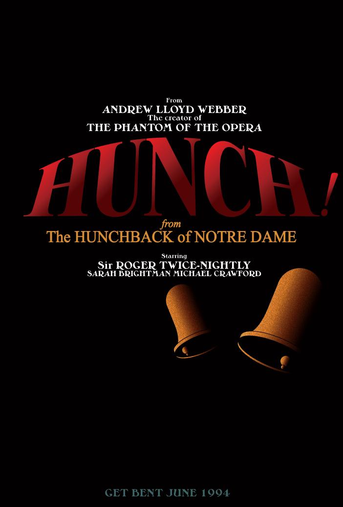 HUNCH! Broadway Poster by Jarvisrama99