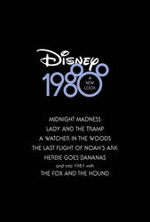 Disney 1980: A New Look by Jarvisrama99