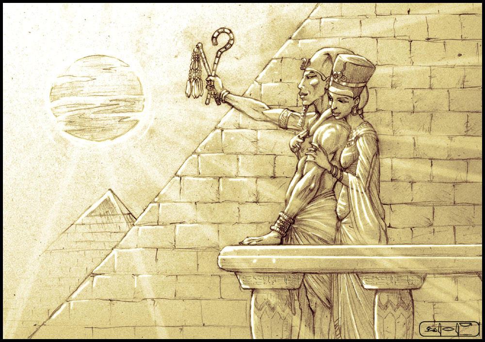 AKHENATEN and NEFERTITI by LeeReex