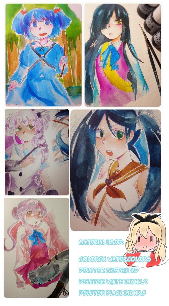 watercolor practice by fyukue