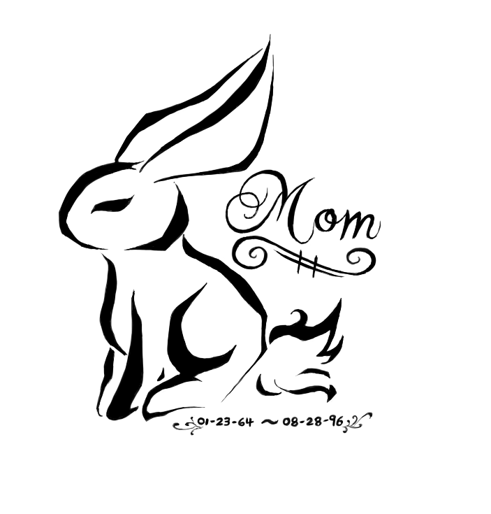 bunny tattoo design by manasurge on deviantart. Black Bedroom Furniture Sets. Home Design Ideas