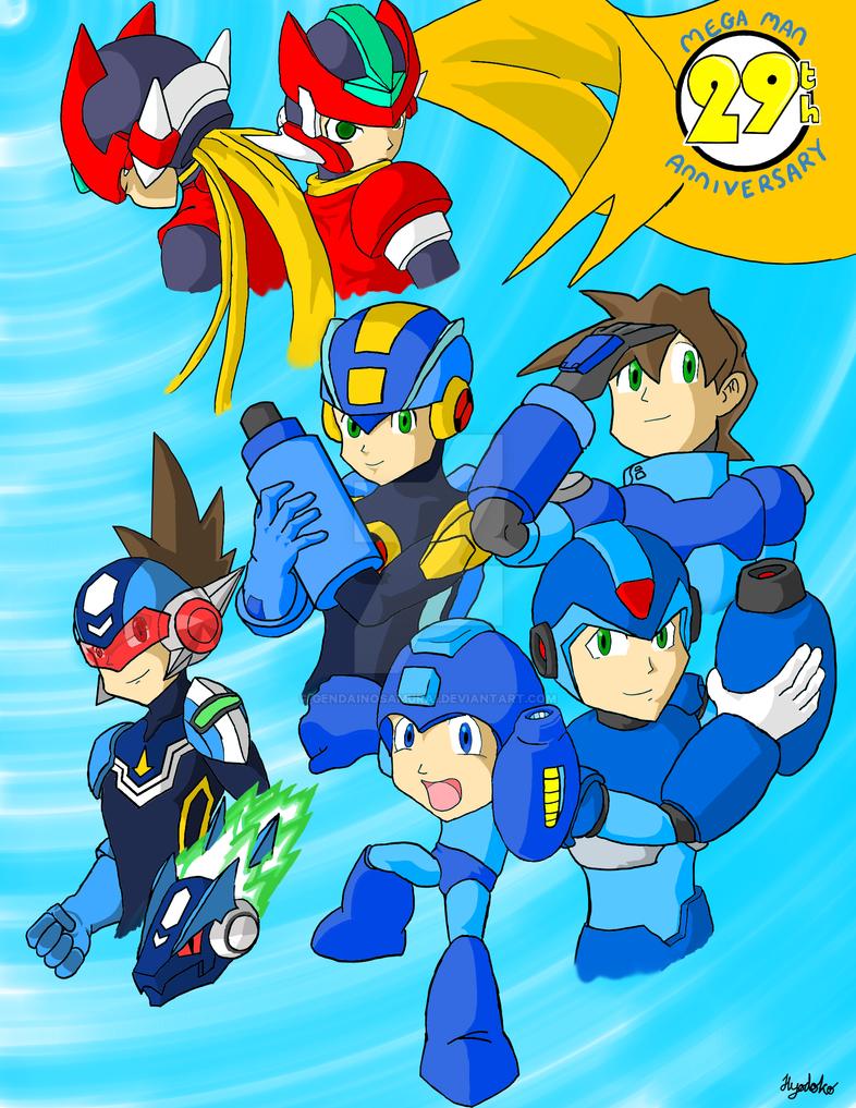 Celebrating 29 Years of Mega Man by GendaiNoSamurai