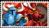 Shovel Knight x Shield Knight stamp by MyMyDraws3