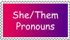She/They stamp