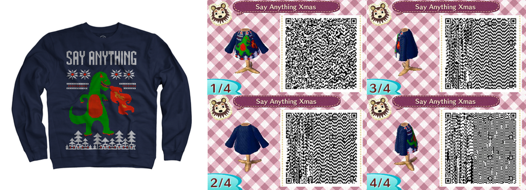 Say Anything Christmas Godzilla Sweater QR Code by MissDarling23 ...