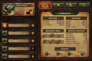 Dungeon Hunter Character Sheet by Panperkin