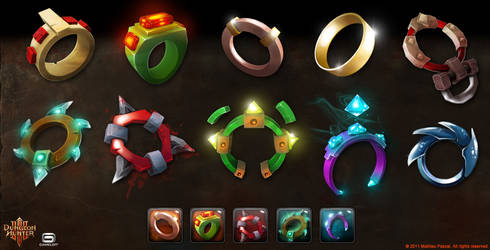 Dungeon Hunter 3 Shop Icons by Panperkin