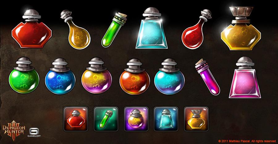 Dungeon Hunter 3 Shop Icons by Panperkin