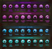 Dungeon Hunter 3 Skills Icons by Panperkin