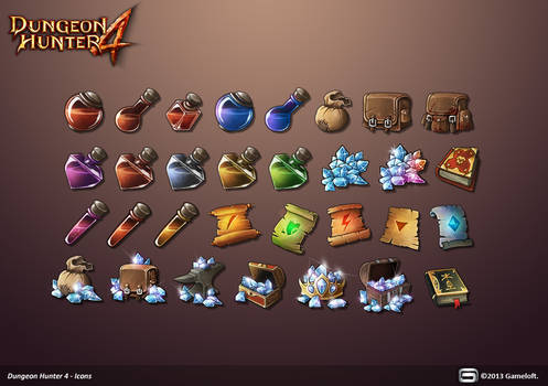 Dungeon Hunter 4 Icons