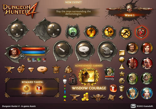 Dungeon Hunter 4 in-game Assets by Panperkin